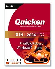 Quicken XG 2004 UK R2 Software - Windows 7 8 and 10 With Full Instructions