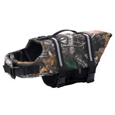 Dog Water Reflective Preserver Float Oxford Vest Saver Life Jacket Camo M