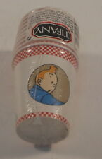 Tintin Herge rare pack 10 gobelets carton Lune Tifany annees 90 TBE