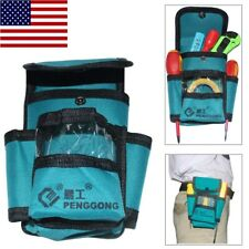 US Waterproof Tool Bag Electrician Waist Pack Hardware Toolkit Pocket Belt Pouch
