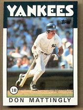 DON Mattingly, Yankees #180 TOPPS 1986 carta di baseball (C383)