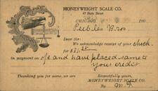 Chicago IL Moneyweight Scale Co c1900 Private Mailing Card - Illustrated