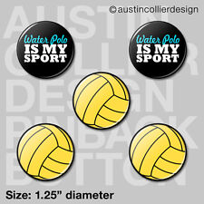"""(5) WATER POLO 1.25"""" pinback buttons / badges - h20 h2o waterpolo team gift pins"""