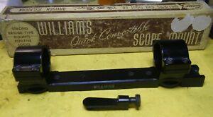 Vintage Williams Scope Mount 1 inch Rings Peep Sight Remington 760 740 742