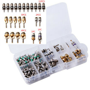 134pcs 9 kinds Of Assortment A/C Conditioning Valve Core R134 Kit Assortment Kit