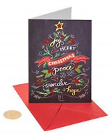 Papyrus Christmas Cards Boxed, Chalkboard Holiday Tree 14-Count
