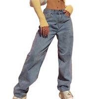 Damen Jeans Bootcut High Waist Jeanshose Schlaghose Denim Gerades Bein Hüfthose