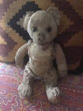 "Antique Well-Loved Steiff Mohair TEDDY BEAR Shoe Button Eyes - 11"""