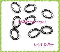 3x4mm 100pcs Gunmetal Black Oval Jump Rings Jewelry Findings Open Split Earrings