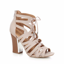 9c3f2d85e92 Call It Spring Tavernelle UK 8 Light Pink High Block Heel Gladiator Sandals