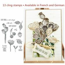 "New Poppy Cut Stencil Emboss Create FROZEN FLAKES Die Style# 1033 1.7/"" x 5.4/"""