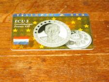 Voll/Mint  DÄNISCHE ECU 3 Telekort 5 KR Münzenmotiv Luxemburger Francs