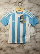 59859d37ab9 Adidas Argentina Soccer Jersey Boys XS New! Toddlers 8/20 White/Blue Home