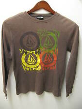 Volcom Men's Thermal Flannel Long Under L/S Skater Surfer Spray Paint T Shirt Sm