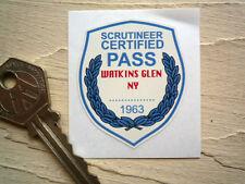 WATKINS GLEN 1963 SCRUTINEER Classic Racing STICKER Car Race Fit Verification