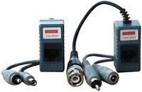1 Pair (2 Pcs) Video Audio Power Balun Transceiver BNC to Cat5 /6 UTP Cable CCTV