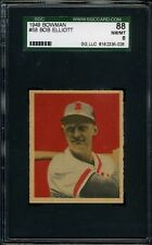 1949 Bowman #058 Bob Elliott SGC 88 NM/MT