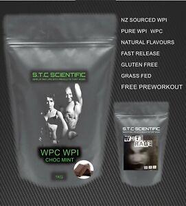 1kg WPC/WPI Choc Mint and White Rage Crazy Preworkout! Manufacturer direct!