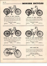 "1955 PAPER AD 26"" Huffy Radio Bike Bicycle Radio In Tank"