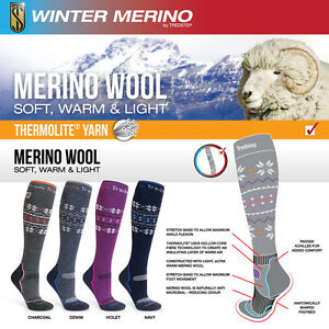 Tredstep Winter Merino Socks Various Colours 36 - 42 UK 3-8