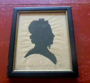 1830 Martha Honeywell Cut without Hands RARE Virginia  Silhouette