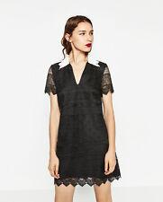Zara Short Lace Dress, Black, L