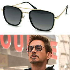 Fashion Iron Man Sunglasses Square Robert Downey TONY STARK Pilot Glasses UV400