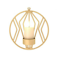 UK Geometric Iron Candlestick Wall Candle Holder Sconce Warm Fashion Home Decor