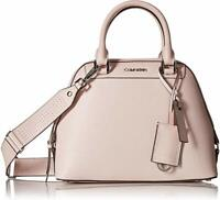Calvin Klein Women's Pink Clara Leather Satchel Handbag NWT