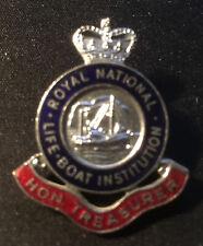 More details for royal national lifeboat institution rnli enamel pin badge treasurer free p+p