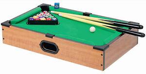 Mini Billiard mit Queue und Bällen - Tischbilliard Billiardtisch Pool Tisch