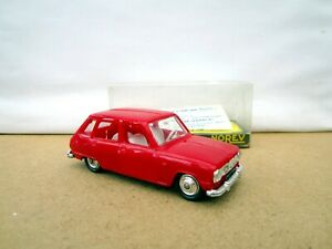 Norev Plastic No.162  Renault 6 - Red  -  Boxed