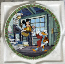 "Knowles Disney Collector Plate ""Bah Humbug!� 1992- Mickey's Christmas Carol Coa!"