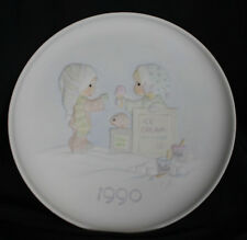 Vintage Precious Moments Plate Christmas Blessings 1990 Yummy Ice Cream Stand