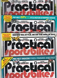 Various Issues of PRACTICAL SPORTSBIKES Magazine from Spring 2010 to April 2018