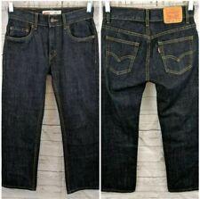 NEW - LEVI'S 505 Boys Straight Leg Jeans - Dark Wash - Size 12 reg