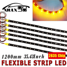 6X Flexible Yellow Light Strip High Power Car Motor 2835 LED Waterproof 60CM 12V