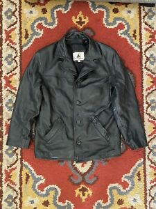 Misty Harbor Men's Black Leather Jacket, Size Small 100% Leather