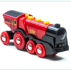 BRIO World Train Mighty Red Battery Powered Action Locomotive 33592