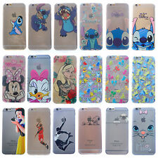 FUNDA CARCASA SILICONA TPU iPHONE 5 6S 7 PLUS DISNEY Cartoon STITCH MICKEY