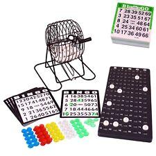 BINGO Spiel-Set XL mit Bingomühle Metall-Trommel Bingotrommel und Ticketblock