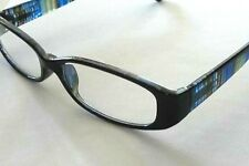 37851f71c0 3 Pr Foster Grant Reading Glasses Blue Plaid Stems Loop Compact Readers  +2.50
