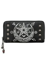Banned Black with Studs Hollow Wallet Purse Rockabilly