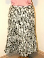 Vintage Peter Martin Skirt in Boucle Wool / Mohair Fit n Flare Lined Size 12