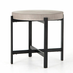 """38"""" H Indoor Outdoor Counter Table Grey Color Iron Concrete Grooved Black Steel"""
