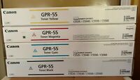 CANON GPR-55 Toner Cartridges Black Cyan Magenta Yellow  C5535i  C5540i  C5550i