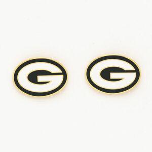 Green Bay Packers Logo Post Earrings