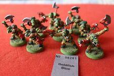 Games Workshop Warhammer 40k Ork Orks Blood Axe Bloodaxe Kommandos x9 Painted