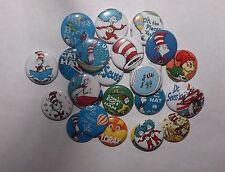 "20 Doctor Seuss 1"" pin back Buttons."