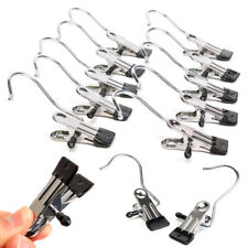 10pcs/set Portable Laundry Metal Hook Clothes Pin Boot Shoes Hanger Hold Clips